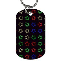 Spray Stars Pattern A Dog Tag (two Sides) by MoreColorsinLife