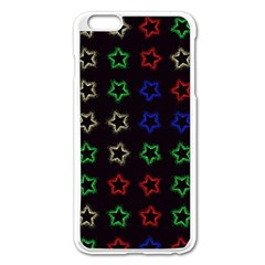 Spray Stars Pattern A Apple Iphone 6 Plus/6s Plus Enamel White Case by MoreColorsinLife