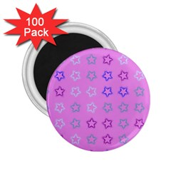 Spray Stars Pattern C 2 25  Magnets (100 Pack)  by MoreColorsinLife