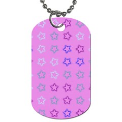 Spray Stars Pattern C Dog Tag (two Sides) by MoreColorsinLife