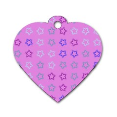 Spray Stars Pattern C Dog Tag Heart (one Side) by MoreColorsinLife