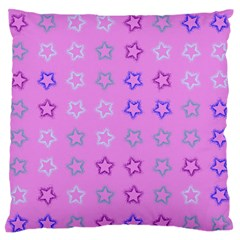 Spray Stars Pattern C Large Flano Cushion Case (two Sides) by MoreColorsinLife
