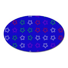 Spray Stars Pattern E Oval Magnet by MoreColorsinLife