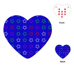 Spray Stars Pattern E Playing Cards (heart)
