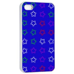 Spray Stars Pattern E Apple Iphone 4/4s Seamless Case (white) by MoreColorsinLife