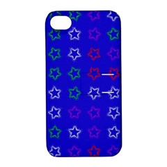 Spray Stars Pattern E Apple Iphone 4/4s Hardshell Case With Stand by MoreColorsinLife