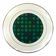 Spray Stars Pattern F Porcelain Plates by MoreColorsinLife