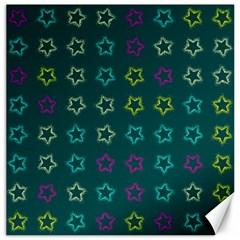 Spray Stars Pattern F Canvas 12  X 12   by MoreColorsinLife