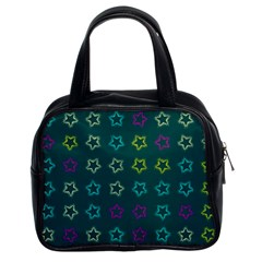 Spray Stars Pattern F Classic Handbags (2 Sides) by MoreColorsinLife
