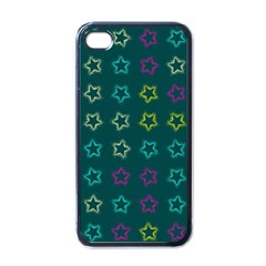 Spray Stars Pattern F Apple Iphone 4 Case (black) by MoreColorsinLife
