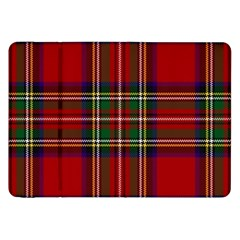 Red Tartan Plaid Samsung Galaxy Tab 8 9  P7300 Flip Case by allthingseveryone