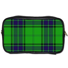 Green And Blue Plaid Toiletries Bags 2 Side by allthingseveryone