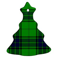 Green And Blue Plaid Christmas Tree Ornament (two Sides) by allthingseveryone