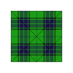 Green And Blue Plaid Acrylic Tangram Puzzle (4  X 4 )