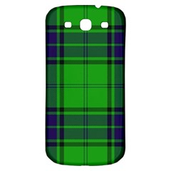 Green And Blue Plaid Samsung Galaxy S3 S Iii Classic Hardshell Back Case