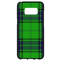 Green And Blue Plaid Samsung Galaxy S8 Black Seamless Case by allthingseveryone