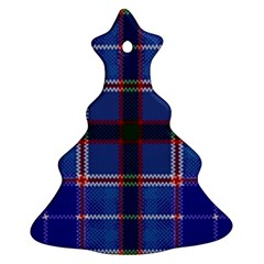 Blue Heather Plaid Ornament (christmas Tree)  by allthingseveryone