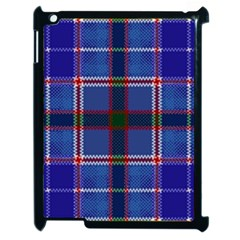 Blue Heather Plaid Apple Ipad 2 Case (black) by allthingseveryone