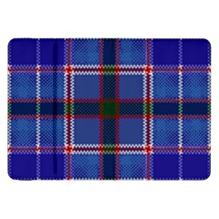 Blue Heather Plaid Samsung Galaxy Tab 8 9  P7300 Flip Case by allthingseveryone