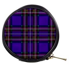 Purple Tartan Plaid Mini Makeup Bags by allthingseveryone
