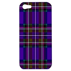 Purple Tartan Plaid Apple Iphone 5 Hardshell Case by allthingseveryone