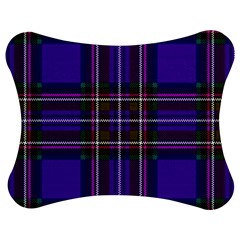 Purple Tartan Plaid Jigsaw Puzzle Photo Stand (bow) by allthingseveryone
