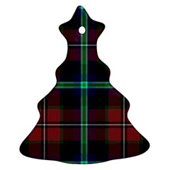 Purple And Red Tartan Plaid Christmas Tree Ornament (two Sides) by allthingseveryone