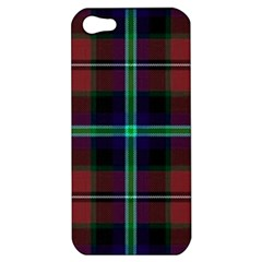 Purple And Red Tartan Plaid Apple Iphone 5 Hardshell Case by allthingseveryone