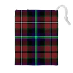 Purple And Red Tartan Plaid Drawstring Pouches (extra Large) by allthingseveryone