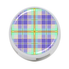 Blue And Yellow Plaid 4 Port Usb Hub (one Side) by allthingseveryone