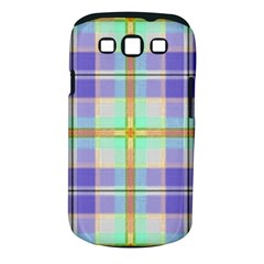 Blue And Yellow Plaid Samsung Galaxy S Iii Classic Hardshell Case (pc+silicone) by allthingseveryone