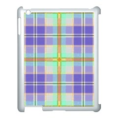 Blue And Yellow Plaid Apple Ipad 3/4 Case (white) by allthingseveryone