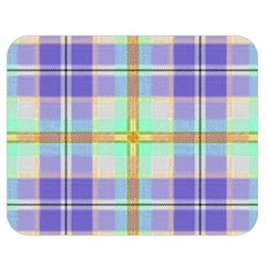 Blue And Yellow Plaid Double Sided Flano Blanket (medium)  by allthingseveryone