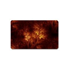Artsy Brown Trees Magnet (name Card) by allthingseveryone