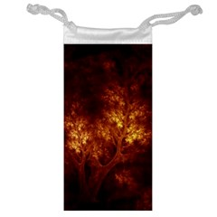 Artsy Brown Trees Jewelry Bag by allthingseveryone