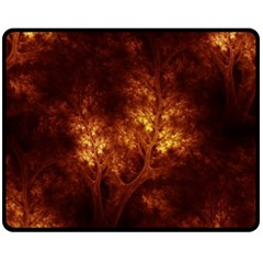 Artsy Brown Trees Fleece Blanket (medium)  by allthingseveryone