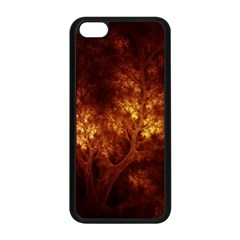 Artsy Brown Trees Apple Iphone 5c Seamless Case (black) by allthingseveryone