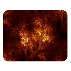 Artsy Brown Trees Double Sided Flano Blanket (large)  by allthingseveryone