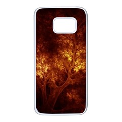 Artsy Brown Trees Samsung Galaxy S7 White Seamless Case by allthingseveryone