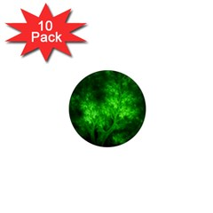 Artsy Bright Green Trees 1  Mini Magnet (10 Pack)  by allthingseveryone