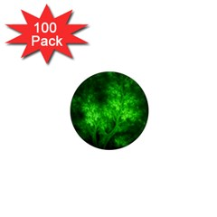 Artsy Bright Green Trees 1  Mini Magnets (100 Pack)  by allthingseveryone
