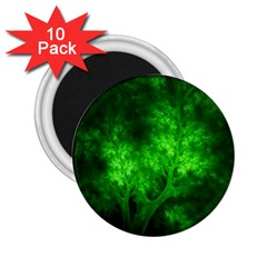 Artsy Bright Green Trees 2 25  Magnets (10 Pack)  by allthingseveryone