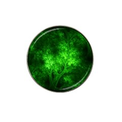 Artsy Bright Green Trees Hat Clip Ball Marker by allthingseveryone