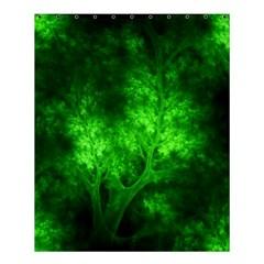 Artsy Bright Green Trees Shower Curtain 60  X 72  (medium)  by allthingseveryone