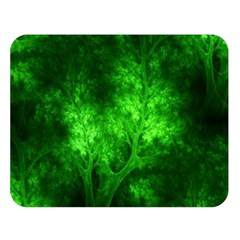 Artsy Bright Green Trees Double Sided Flano Blanket (large)  by allthingseveryone