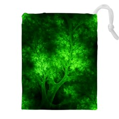 Artsy Bright Green Trees Drawstring Pouches (xxl) by allthingseveryone