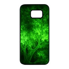 Artsy Bright Green Trees Samsung Galaxy S7 Edge Black Seamless Case by allthingseveryone