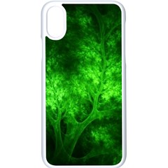 Artsy Bright Green Trees Apple Iphone X Seamless Case (white)