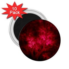 Artsy Red Trees 2 25  Magnets (10 Pack)  by allthingseveryone