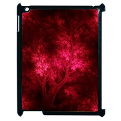 Artsy Red Trees Apple Ipad 2 Case (black) by allthingseveryone